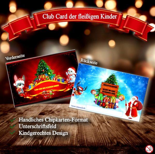 Fleißige Kinder erhalten vom Weihnachtsmann ein besonderes Weihnachtsgeschenk.