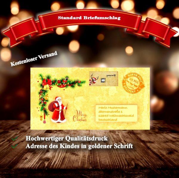 Weihnachtsgeschenk für Kinder mit personalisiertem Brieftext .