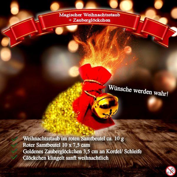 Goldenes Weihnachtsglöckchen vom Weihnachtsmann