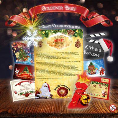 Brief vom Weihnachtsmann als außergewöhnliches Weihnachtsgeschenk. mit 5 Videobotschaften Gratis dazu.